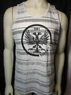 GUESS mens white crew neck tank shirt with guess front logo new nwt
