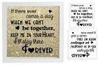 Vinyl Sticker 20cm x 20cm DIY Box Frame IF THERE EVER COMES A DAY WE CANT BE