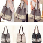 Vintage Canvas Leisure Rucksack Women Shouder Bag Handbag Satchel Purse Knapsack