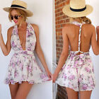 Summer Hot Sale Jumpsuit Chiffon Comfortable Occident Floral Sexy Backless Beach
