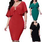 Fashion Womens Short Sleeve Bandage Bodycon Evening Party Cocktail Short Dress