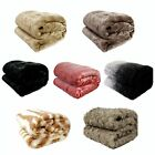 Luxury Soft Faux Fur Mink Animal Bed Sofa Lounge Throw Blanket Runner 127x152cm