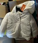 girls gymboree off white hooded puffer coat size 4t-5t nwt
