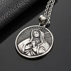 AgentX 3 Types Christian Figure Pendant Mens Stainless Steel Necklace Jewelry