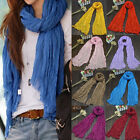 Candy Color Ladies Long Voile Scarfs Winter Warm Scarf Women Scarf Shawl