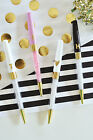 Set of 3 Monogram Pens Bridal Shower Wedding Party Favors and Gifts