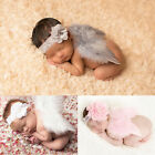 Lovely Baby Newborn Flower Headband+ Angel Wing Costume Photo Photography Prop