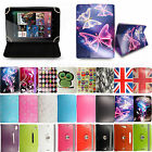 Universal Leather Flip Case Cover Stand For Tesco Hudl & Windows Connect Tablets