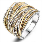 Punk Rock Statement Layers Ring Stainless Steel Band Gift Fashion Women's Sz6-10