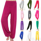 Fashion WOMENS HAREM yoga TROUSERS ALI BABA LONG PANTS BAGGY HAREEM LEGGINGS New