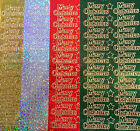 Sparkly Merry Christmas Peel Off Sticker Sheet Card Making Craft BUY 4 GET 1 FRE