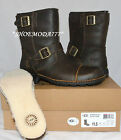 UGG AUSTRALIA Rockville II Biker Dune Boots + Sheepskin Insole New UK 8.5 -11