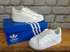 ADIDAS SUPERSTAR INFANT WHITE ORIGINALS LEATHER SHELLTOE TRAINERS CHILDRENS