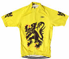 LION OF FLANDERS RETRO VINTAGE CYCLING TEAM BIKE JERSEY by SM+ Sportswear