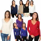 Womens Classic Cashmere Cardigan Soft Knit Button Sweater V Neck Work Cardi Top