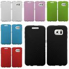 Slim Fused Hybrid Synthetic Leather TPU Case Cover For Samsung Galaxy S6