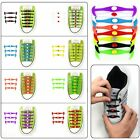 12Pcs Cool Elastic Silicone Easy No Tie Shoelaces Shoe Lace Set for Kids Adults