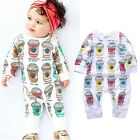 Newborn Baby Boys Bodysuit Clothes Warm Long Sleeve Romper Jumpsuit Outfits NEW