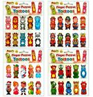 Finger Puppet Temporary Tattoos – Boys Girls Kids Party Loot Bag Stocking Filler