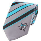 52146 PORT ADELAIDE POWER AFL TEAM COLOURS & LOGO STRIPED MENS DRESS NECK TIE