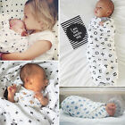Soft Muslin Baby Swaddling Blanket Newborn Infant 100% Cotton Swaddle Towel