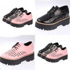Fashion Womens Shoes Harajuku Work Lace Up Breathable Leather Shoes New