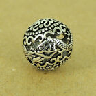 925 Sterling Silver Dragon Bead Vintage Round Bead Jewelry Making WSP450