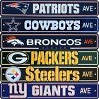 Official NFL Football Street Sign Ave Licensed Durable Man Cave 4 x 24 $15.99 USD on eBay