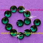 (Any SIZE) Emerald Green Iron On Flatback Hot fix Rhinestones Crystal Shine Nice