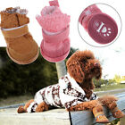4Pcs Lovely Dog Pet Puppy Warm Cotton Winter Shoes Snow Boots Bottes XS-XL NEW