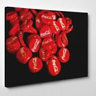 Coca Cola Bottle Caps | LARGE WALL ART | Red And Black Coke Canvas £19.99  on eBay