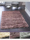 ORIGINS LUXURIOUS THICK SHAGGY SILKY CARVED GLAMOUR RUG 3 COLOURS 3 SIZES