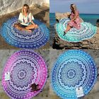 Round Mandala Hippie Indian Tapestry Boho Beach Throw Towel Yoga Mat K0E1