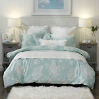 Kinley Powder Blue Quilt Doona Duvet Cover Set OR Accessories by Bianca Elegence
