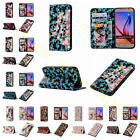 Coloured Diamond Magnetic Closure Stand PU Leather Case Cover For Multi Phones
