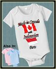MADE IN CANADA WITH INDONESIAN PARTS BODYSUIT FLAG SHIRT PROUD TO BE