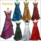 Cherlone Ballgown Wedding/Evening Cap Sleeve Formal Bridesmaid Full Length Dress