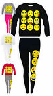 Girls Emoji Sweatshirt And Legging Set New Kids Smiley Face Emoticon Set 7-13