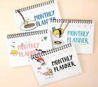 2017 Waru Sushi Monthly Planner Diary Spring Scheduler Agenda Journal Notebook