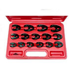 T and E Tools 93915 15 Piece Metric Flare Nut Crowsfoot Wrenches 13-24mm