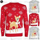 Unisex Womens Mens Christmas Jumper Baby Reindeer Xmas Sweater Fine Knitted Top