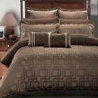 Brown Janet Jacquard Comforter Set 8 Piece 100% Luxury Bedding set
