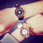 Fashion Transparent Women Embossed Leather Band Anchor Quartz Wrist Watch DG