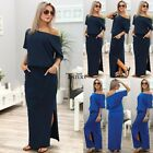 Sexy Womens Short Sleeve Loose Cocktail Ladies Summer Party Long Maxi Dress TXWD