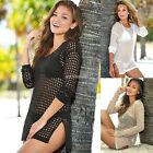 Women Sexy Swimwear Crochet Beach Bikini Cover Up Dress Beach Wear Kaftan Top AU