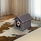 Heated Soft Cat Pet Bed Kitty House Indoor Outdoor Water Resistant Warm Shelter