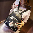 Fashion Women Girls Ladies Butterfly Backpack Shoulder Rucksack Leather Bag