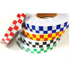 HIGH INTENSITY REFLECTIVE CHEQUER CHEQUERED CHECKERED TAPE VINYL ROLL