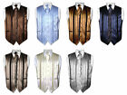 Men's Dress Vest & NeckTIE Solid Color Woven Striped Design