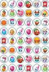 48 x 3 CM SHOPKINS EDIBLE RICE/WAFER PAPER CUPCAKE/FAIRY CAKE TOPPERS